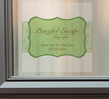Vista Print - Promotions - Signs and Posters - Content Image - Window Decals